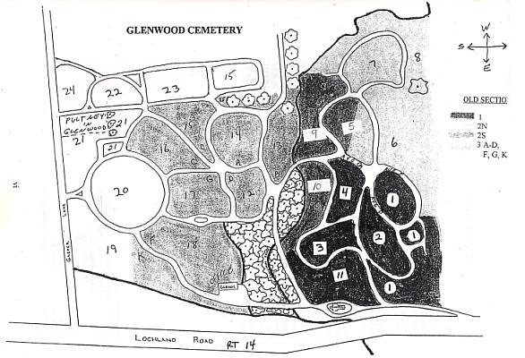 Section Map Glenwood Cemetery on washington ny map, lyncourt ny map, northfield ny map, greenfield center ny map, ellery ny map, geneva new york, rondout ny map, wooster ny map, rockford ny map, elwood ny map, florence ny map, denver ny map, webb ny map, ny canal map, ontario county ny map, edmonton ny map, town of tyre ny map, pittsburgh ny map, glasgow ny map, barrington ny map,